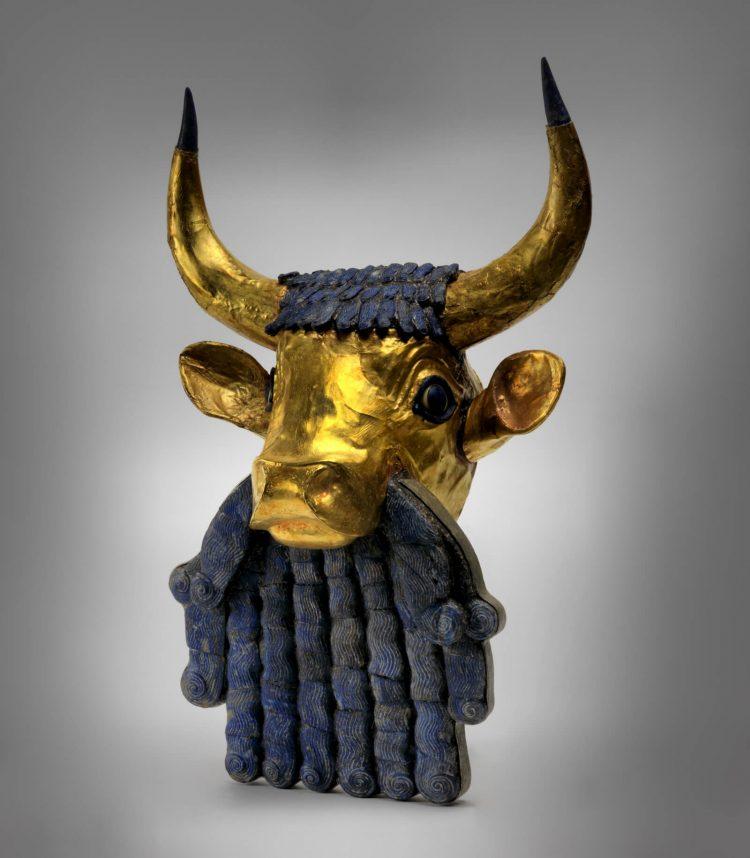 Lyre Fragment Bull Head